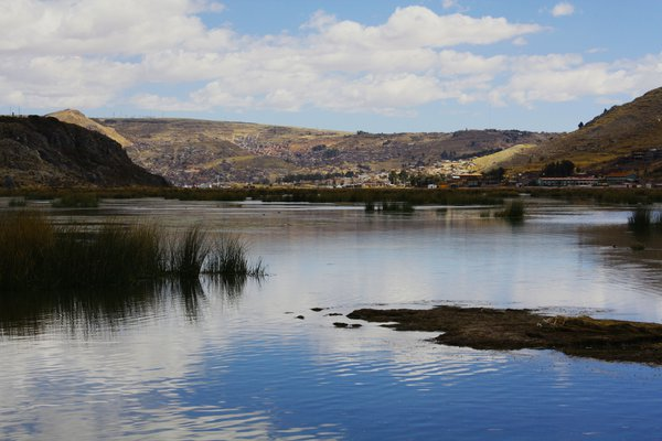 Lake Titicaca, with waters tranquil and blue thumbnail