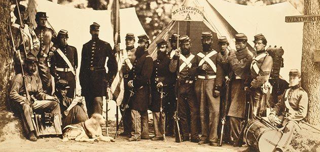 New York 8th Militia camp