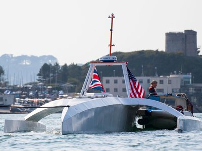 The Mayflower Autonomous Ship's debut in Plymouth, England, is one of many events marking the 400th anniversary of the original Mayflower's 1620 journey.