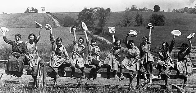 Newton Square Unit of Womans Land Army