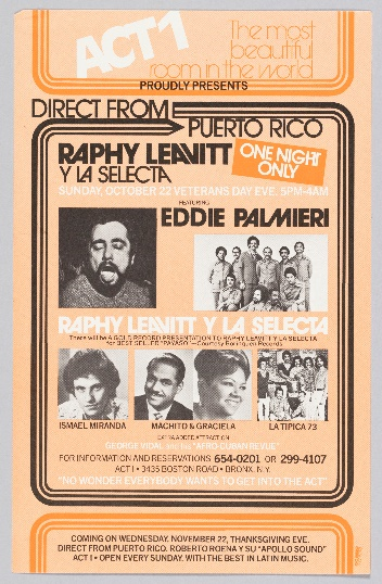 Direct From Puerto Rico flyer