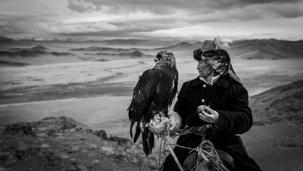 A Hunter and His Eagle thumbnail