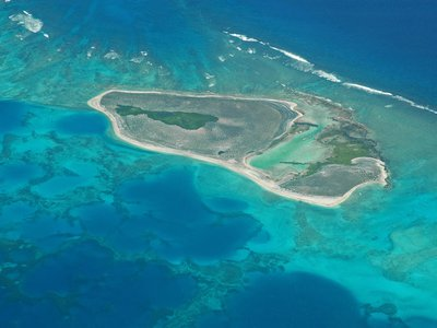 The study suggests that the island is built from sediment generated by the surrounding coral reef, such as from crushed up dead coral, weathered shells and dried-up microorganisms.