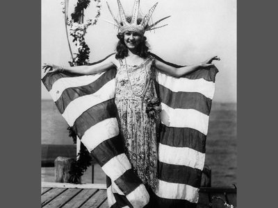 The official photo of the first Miss America winner, Margaret Gorman.