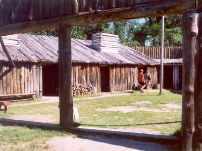 Reconstruction of Fort Mandan, Lewis & Clark Expedition