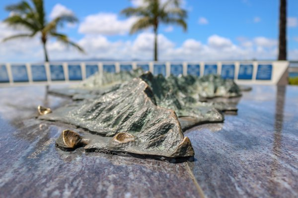 The Bronze Oahu monument in Pearl Harbor thumbnail
