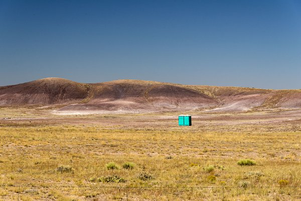 Portapotties in the Desert thumbnail