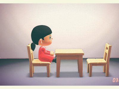 """Artist Shing Yin Khor is recreating famous works of art, including Marina Abramovic's The Artist Is Present, in """"Animal Crossing."""""""