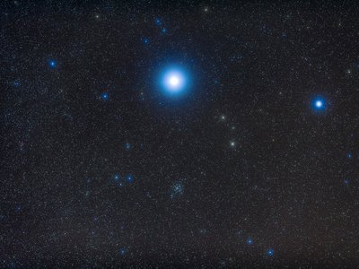"""The """"Dog Star"""" Sirius is the brightest star in the night sky."""