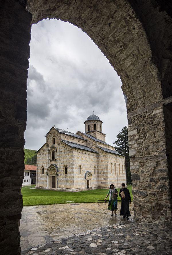 Leaving Dečani, Metohija, Kosovo thumbnail