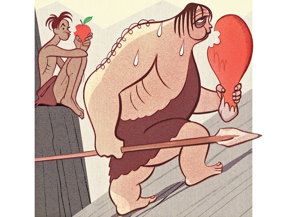 Neanderthal Diet Illustration
