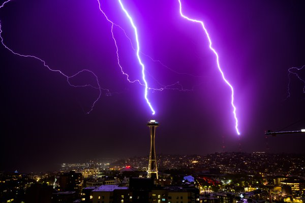 Seattle Space Needle Lightning Strike thumbnail