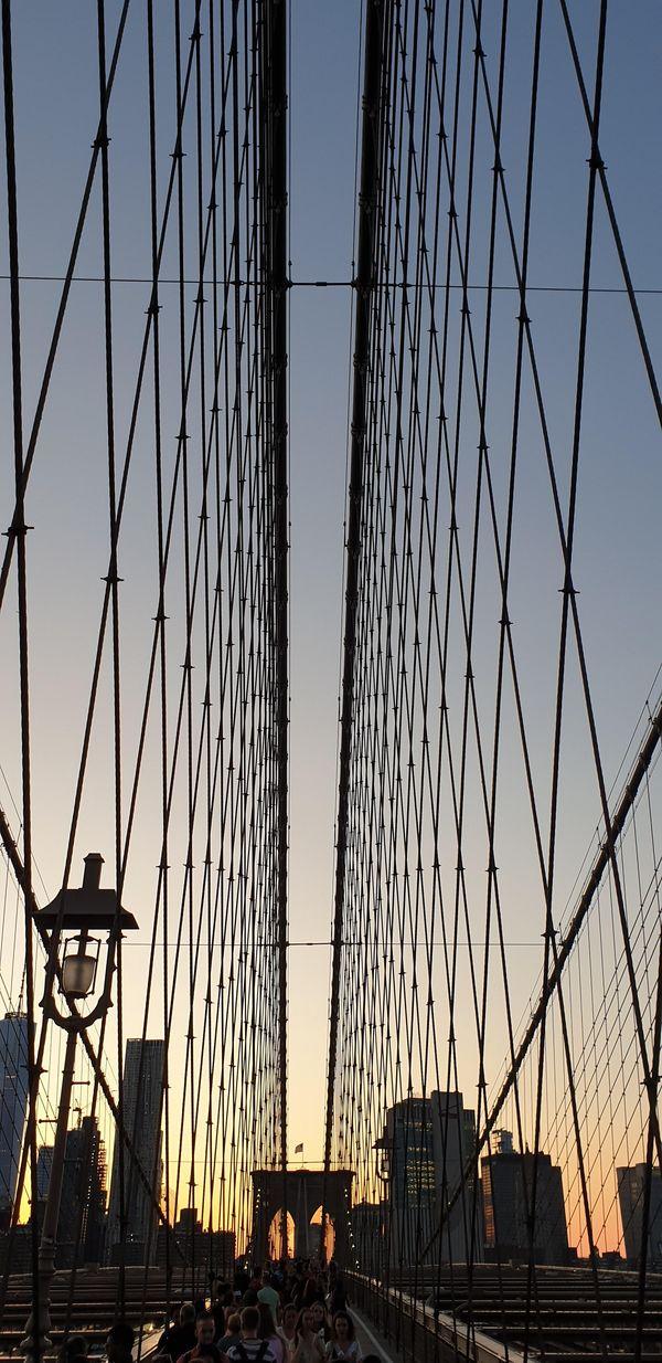 Brooklyn Bridge at dusk  thumbnail
