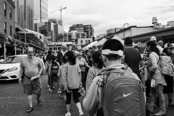 Tourists in Pike Place thumbnail
