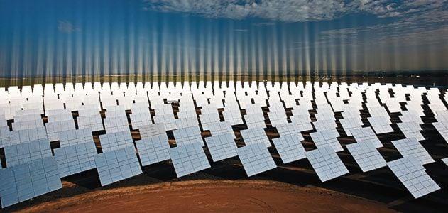 Solar panels Solucar facility