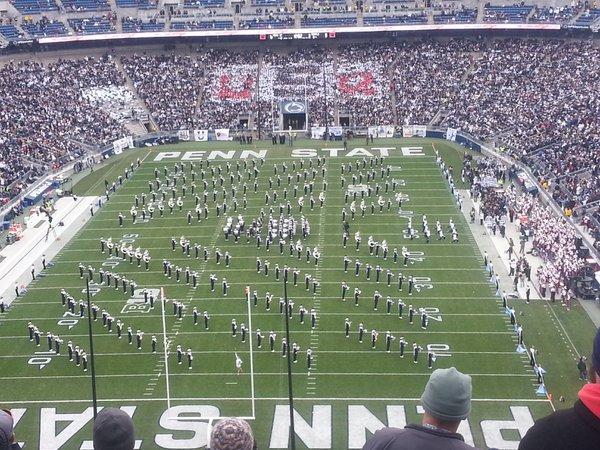 Penn State Football Game half time marching band thumbnail