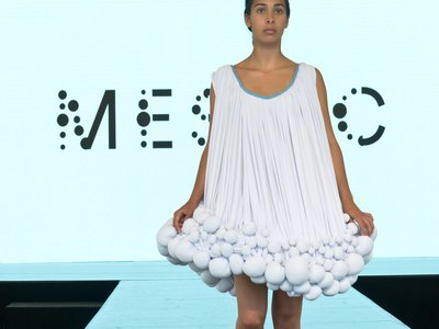 This dress is made with the power of cow manure.