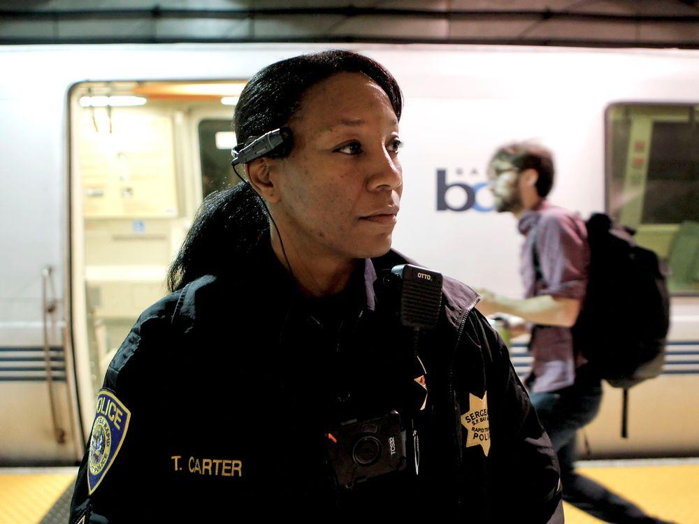 Police wearing body camera