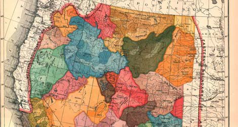 Hydrologic Commonwealths for the American West, proposed by John Wesley Powell, 1879