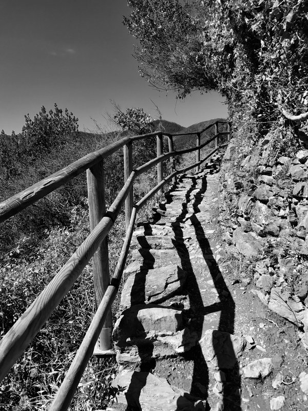 steep rocky staircase with shadow lines thumbnail