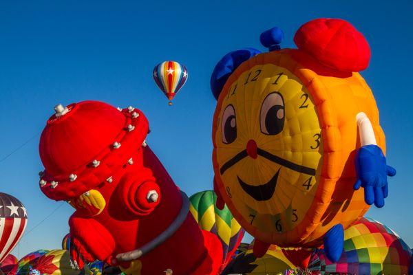 Happy Clock and FIre Hydrant Balloons thumbnail