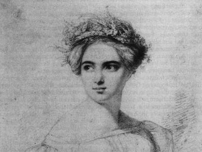 A portrait of Fanny Mendelssohn, by her husband Wilhelm Hensel.