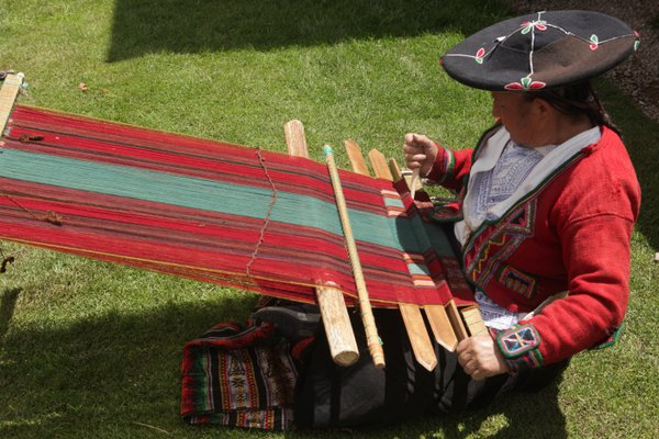 Traditional Incan weaving thumbnail