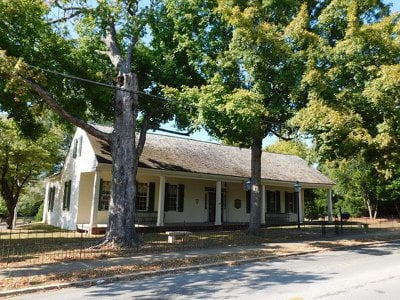 The former tavern now serves as a local history museum.