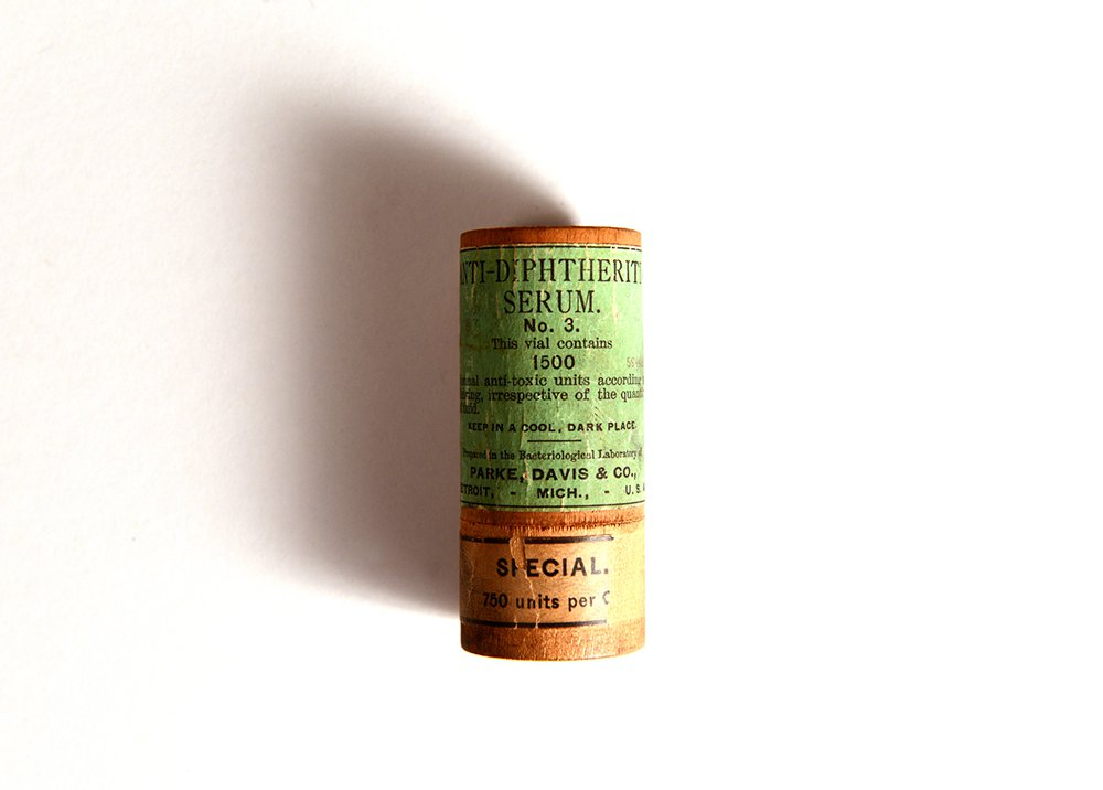 Bottle of Diphtheria Anti-Toxin in Case, 1900s
