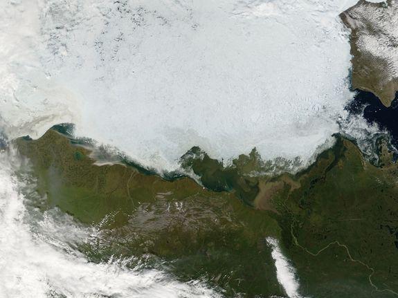 The Beaufort Sea, off the coast of Alaska, on July 25, 2006.