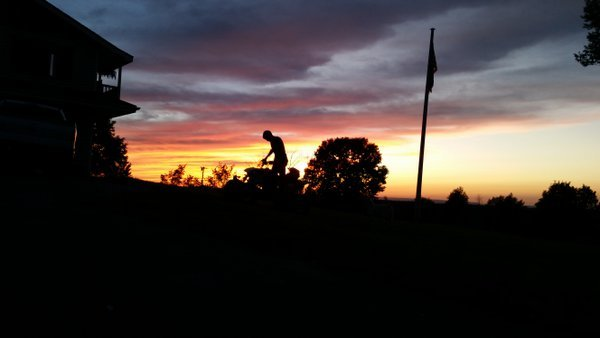 My son in a sunset  thumbnail
