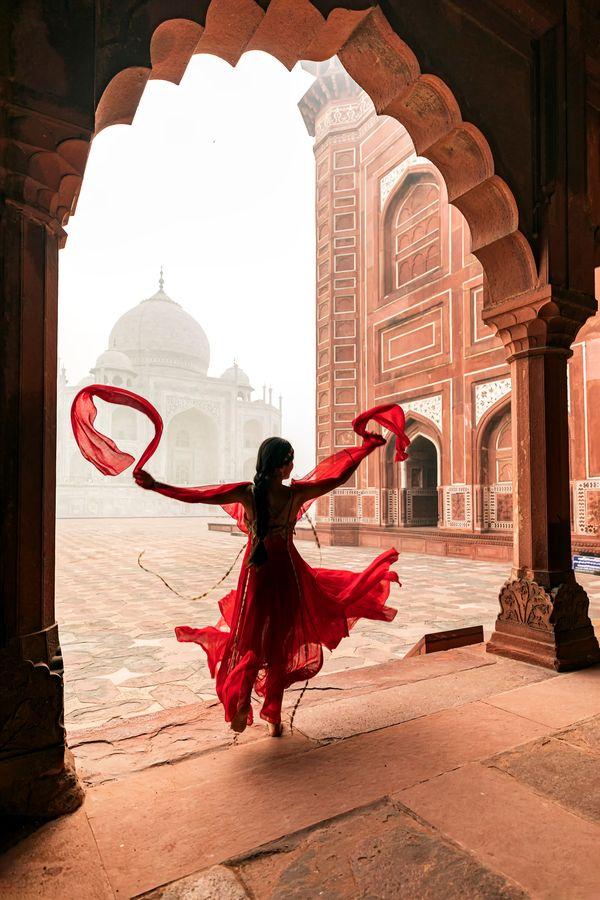 Dancing At Taj Mahal thumbnail