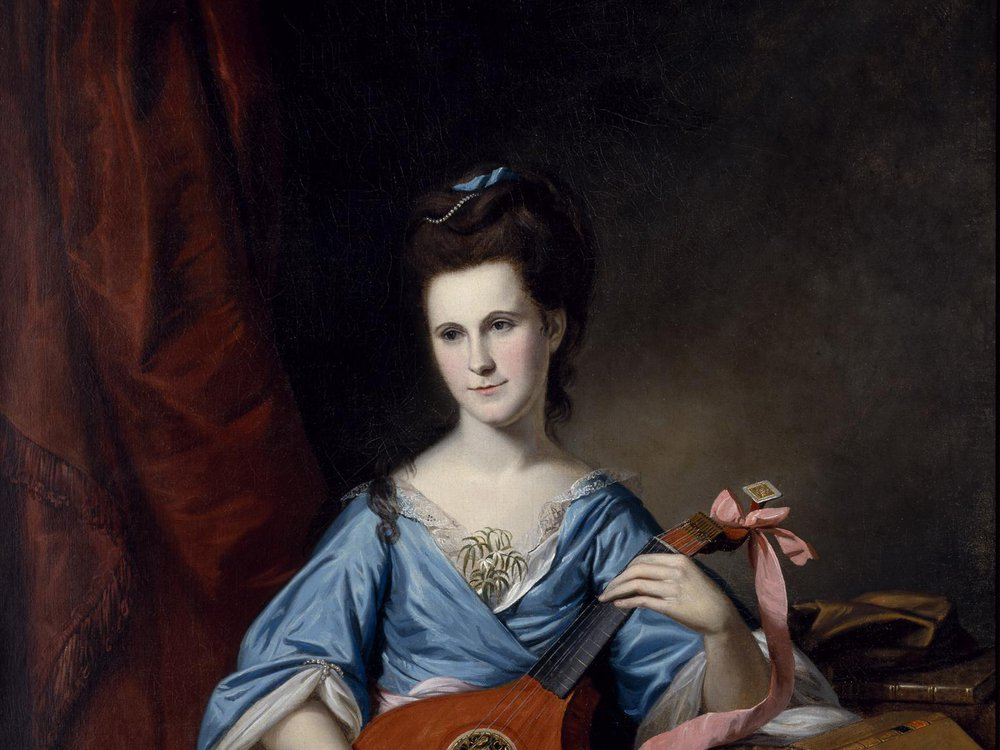 Julia Stockton Rush was painted by Charles Willson Peale.