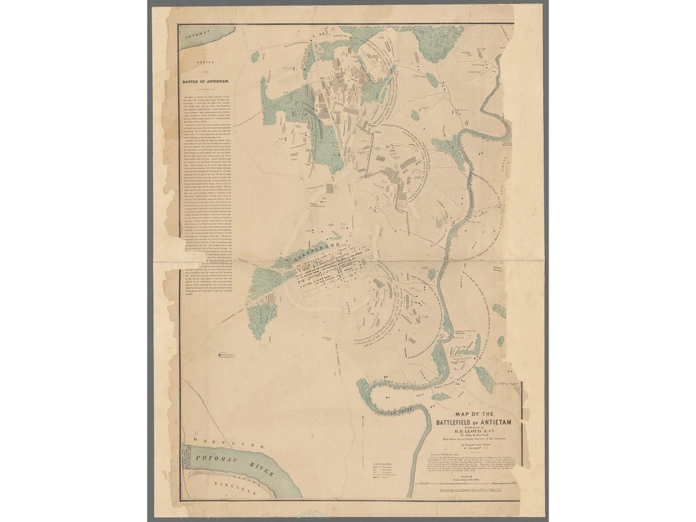 Map of Antietam battlefield