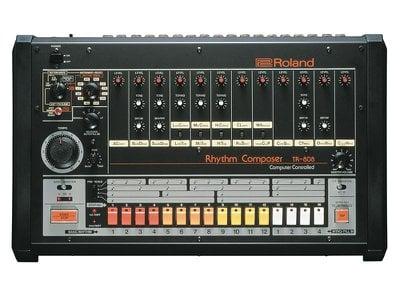 The sequencer on the 808, a row of 16 color-coded buttons, offered artists a way to store beats they programmed.