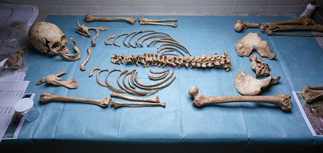 13th- to 15th-century female skeleton