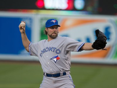 Pitcher R.A. Dickey is well-known for his knuckleball.