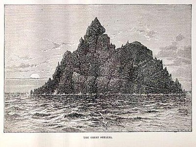 """""""Although it is a somewhat formidable trip, it is by no means impossible to get out to the Great Skellig, which is by far the most interesting island off the Irish coast."""""""