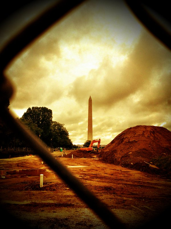 Washington Monument Through Construction Fence thumbnail