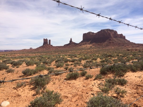 Monument Valley behind Barbed Wire thumbnail