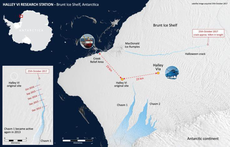 Growing Ice Cracks Force Shutdown of Antarctic Research Station