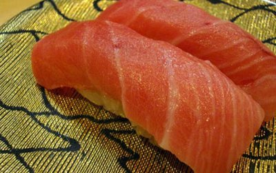 The buttery belly meat of the bluefin is served as toro in sushi bars. The priciest menu item in many sushi restaurants, it is, in fact, rather disliked by traditional sushi connoisseurs.