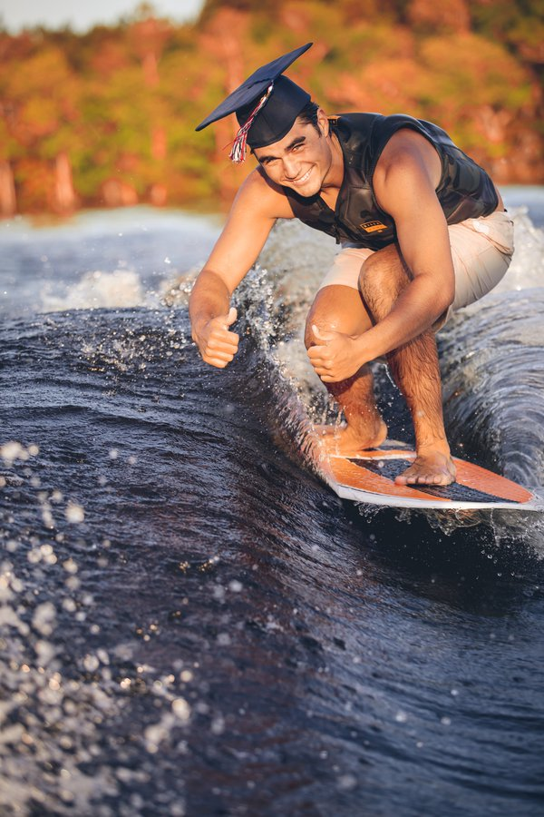 Surfing High school graduate gives thumbs up to 2020  thumbnail