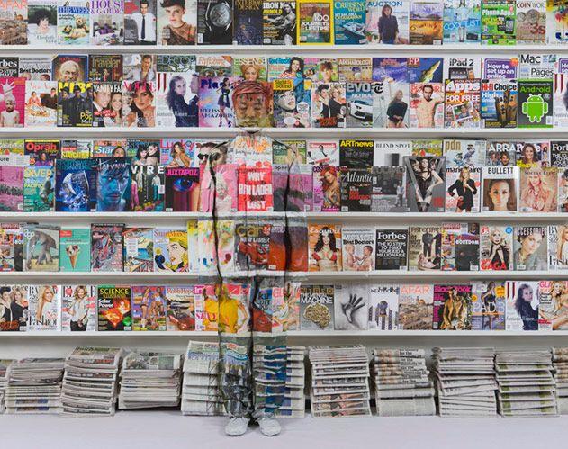 """Hiding in New York No. 3 - Magazine Rack,"" 2011"