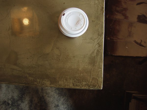 Coffee Shop table top - to go cup of coffee thumbnail