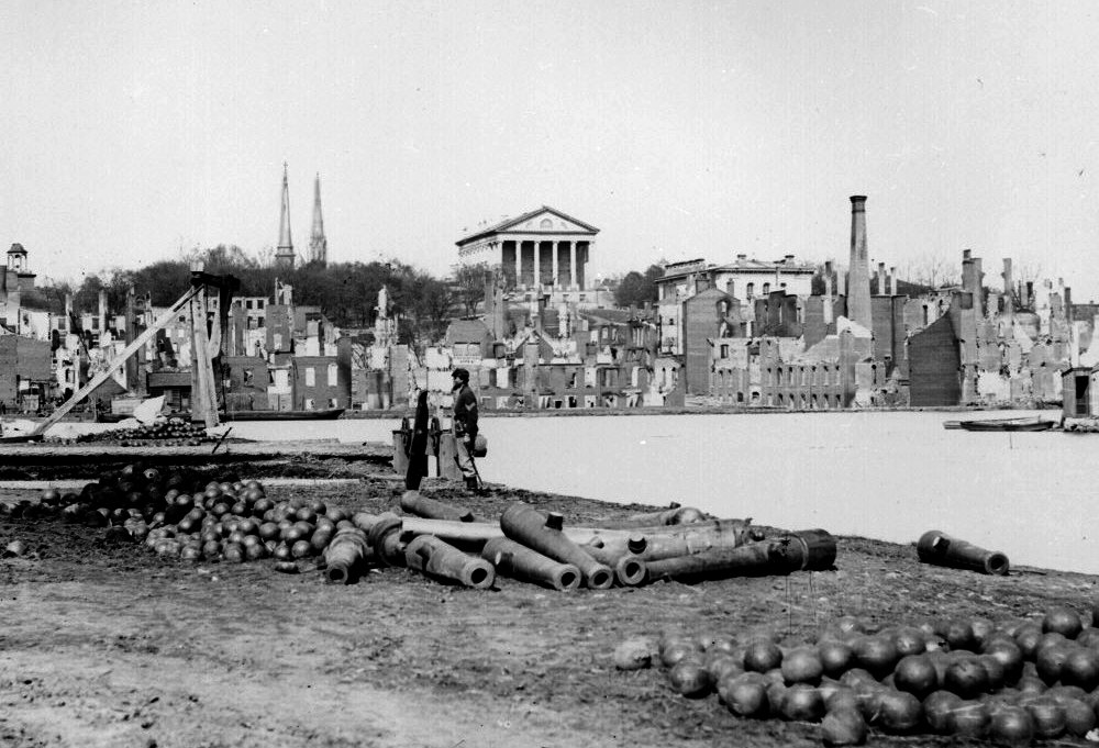 Ruins in front of the Capitol in Richmond