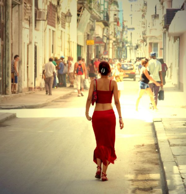 In Red, Old Havana, Cuba thumbnail
