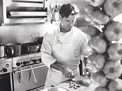 Van Aken in the MIRA kitchen in the late 80s. MIRA is where New World Cuisine started entering the spotlight.