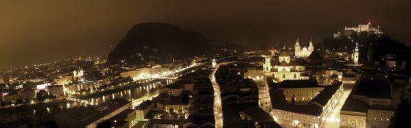 Nocturnal Panorama of Salzburg thumbnail