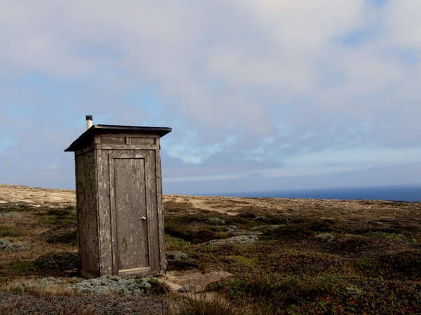 An outhouse on San Miguel Island thumbnail